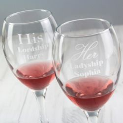 His & Her Wine Glasses Thumbnail