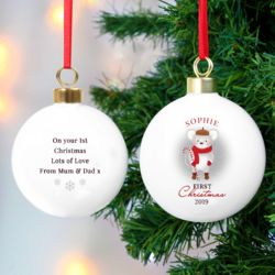 1st Christmas Mouse Bauble Thumbnail